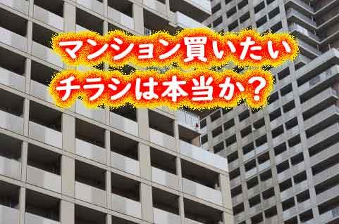 「マンションを買いたい人がいます」チラシは本当か?