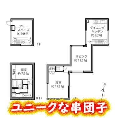 ゆっくり不動産のデザイナーズマンション「串団子」はユニークな構造!